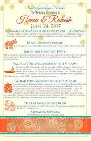 typical wedding program hindu wedding program indian wedding program hindu rituals