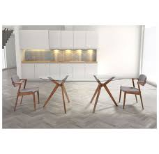 Zuo Modern Desk by Zuo Modern Buena Dining Set With Brickell Chairs Dove Grey