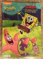 spongebob squarepants jumbo coloring u0026 activity book called seas