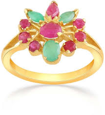 ruby emerald rings images Malabar women 39 s 22k 916 gold ruby and emerald precia ring 5 5 jpg