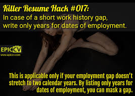 Resume Dates by Killer Resume Hacks