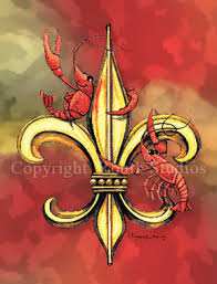louisiana greeting cards cajun greeting cards crawfish fleur