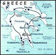 Greece On A Map by Peloponnese Peninsula Map January 16 21 2013 Route We Fol U2026 Flickr