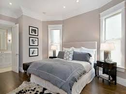 cozy bedroom ideas light wall paint colour combination with soft grey comforter for