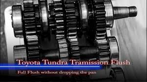 toyota tundra full transmission flush youtube