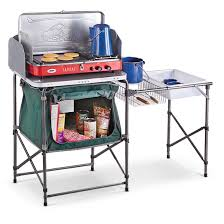 Portable Camping Sink Kitchen by Guide Gear Deluxe Camp Kitchen 581526 Tables At Sportsman U0027s Guide