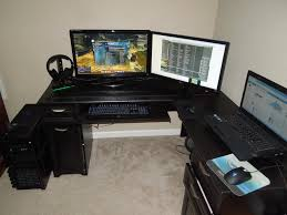 Large Gaming Desk Fascinating L Shaped Gaming Desk Thedigitalhandshake Furniture
