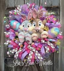 how to make easter wreaths easter wreath wreath thumper wreath bunny wreath