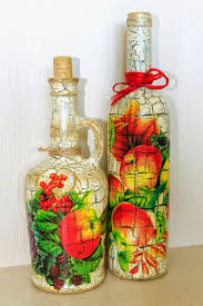 Wine Bottle Home Decor 636 Best Decoupage Bottles Images On Pinterest Decorated Bottles