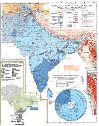 India On A Map Linguistic Nationalism Rather Than Religious Divisions In India