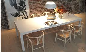 Bulthaup C Table In Solid Core White Laminate With Hans Wegner - Laminate kitchen tables