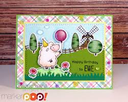 happy birthday to ewe handmade cards valbydesign