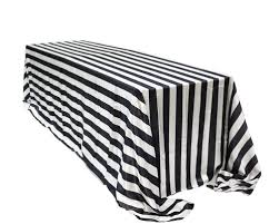 90 x 156 table 90 x 156 inch rectangular satin tablecloth black white striped
