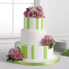 wedding cakes pictures green and pink wedding cakes