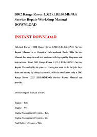 2002 range rover l322 lrl0424 eng service repair workshop manual do u2026