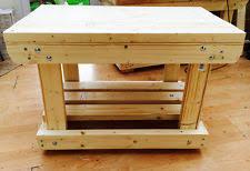 wooden work bench home furniture diy ebay