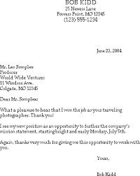 4 thank you letter for job offer adjustment letter