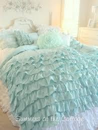 Shabby Chic White Comforter Best 25 White Ruffle Bedding Ideas On Pinterest White Ruffle