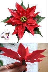 gum paste poinsettia tutorial sugar flower tutorials veena azmanov
