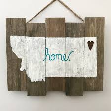 montana home sign turquoise and white rustic home decor true