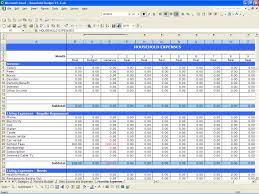 Basic Excel Spreadsheet Yearly Budget Template Monthly Expense Spreadsheet Template
