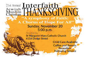 interfaith thanksgiving service countryside community church