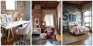 brick wall in livingom with fireplace white wallpaper exposed how