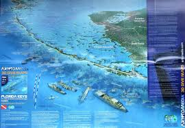 Florida Everglades Map by Florida Keys 3d Dive Maps Waterproof Map Art To Media