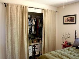 with curtains for doors