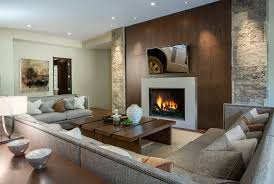 Contemporary Gas Fireplaces by U Shaped Sectional Spaces Contemporary With Mountain Contemporary