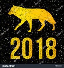 new year card photo 2018 happy new year card polygonal stock vector 695852902