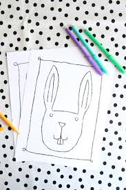 free printables easter bunny coloring pages and stickers