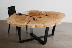 Coffee Table Rounded Edges Hickory Live Edge Table With Rounded Corners On Rhode Island Legs