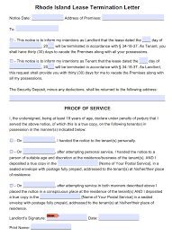 30 Day Notice Lease Termination Letter by Free Rhode Island 30 Day Notice To Terminate Tenancy Month To