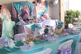 little tea table set tea table set up and glamour session set up in little mermaid theme