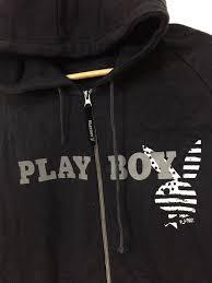 American Flag Hoodies For Men Playboy Playboy Big Bunny American Flag Hoodies Size L