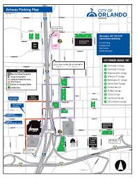 Orlando Traffic Map by Parking Amway Center