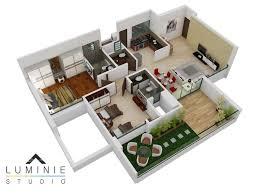 Home Designs And Floor Plans 3d Floor Plans Cut Section U2013 Luminie Studio