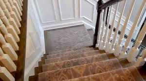 Ikat Runner Rug Ikat Pattern Stair Runner Installation Youtube