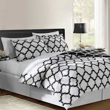 Black And White Bed Sheets Vcny Galaxy Reversible Comforter Set In Black Bed Bath U0026 Beyond