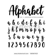 hand drawn handwritten vector alphabet brush stock vector