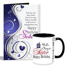 happy birthday design for mug happy birthday sister mug with card her at glowroad 37eeh7