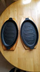 sizzle plates 2x cast iron sizzle plates in plymouth gumtree