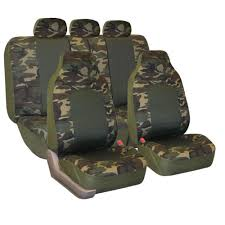 fh group camouflage airbag safe car seat covers full set