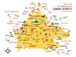 Maps Of Southeast Asia by Sabah Map Guide Borneo वर ण U0027regent Of The Ocean