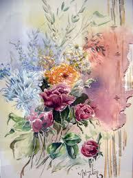 Bouquet De Bonbons Aquarelle by Bouquet Peintre En Provence