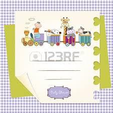 customizable birthday card with animal toys train royalty free