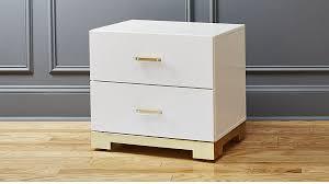 odessa white high gloss nightstand cb2