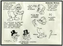 uncle scrooge model sheet by carl barks comics disney carl