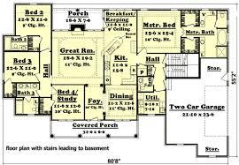 House Plan Ideas South Africa 3 Bedroom 2 Bath House Plans With Basement Small House Plans With